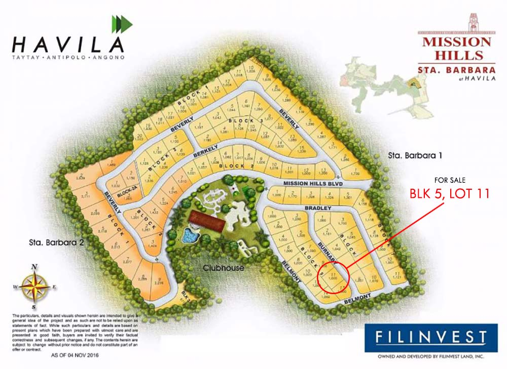 1000 Sqm Lot Only At Mission Hills Havila Antipolo